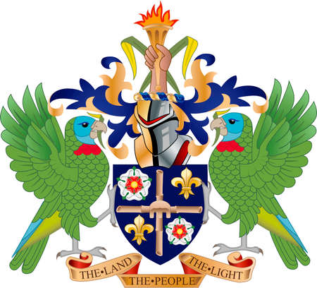 Coat of arms of the Caribbean island state Saint Lucia.
