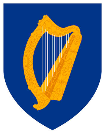 State emblem of the Republic of Ireland. Editorial