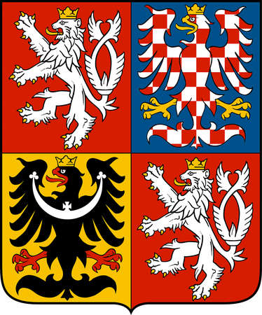 National coat of arms of the Czech Republic. Editorial