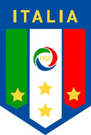 Italian Football Association Federazione Italiana Giuoco Calcio FIGC and the National team - Italy.