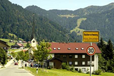 Balderschwang in Oberallgaeu at 1044 meters above sea level, is the highest and smallest municipality in Bavaria - Germany.