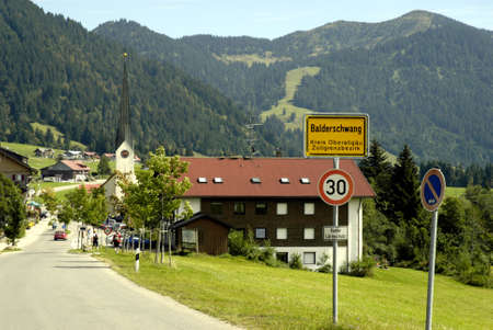 Balderschwang in Oberallgaeu at 1044 meters above sea level, is the highest and smallest municipality in Bavaria - Germany. Editorial