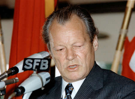 Willy Brandt - 18.12.1913 - 08.10.1992: German politician and statesman who was leader of the Social Democratic Party of Germany SPD, 1969 to 1974 Chancellor of the Federal Republic of Germany, 1969 to 1987 Chairman of the SPD - Germany.
