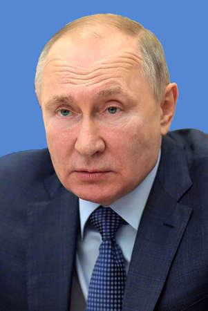 Portrait of Vladimir Putin - * 07.10.1952: President of the Russian Federation