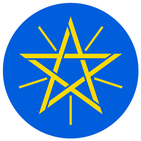 Coat of arms of the Federal Democratic Republic of Ethiopia.