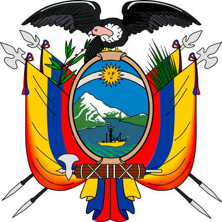 National coat of arms of the Republic of Ecuador.