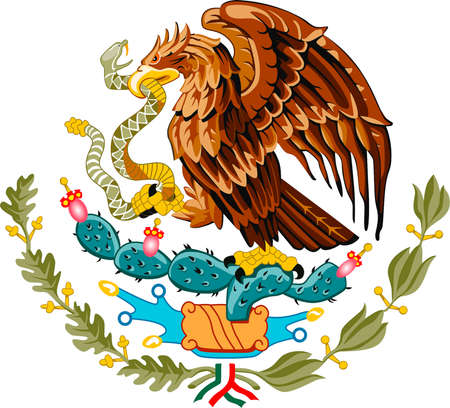 National coat of arms of the United Mexican States.