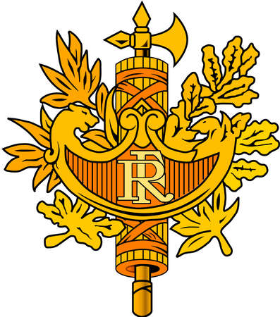 National coat of arms of the French Republic. Standard-Bild