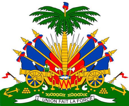 National coat of arms of Haiti. Standard-Bild