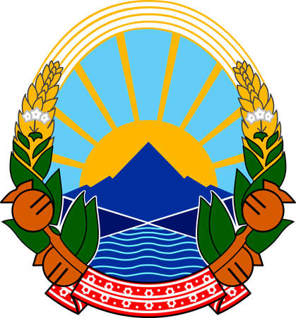 National coat of arms of the Republic of North Macedonia.