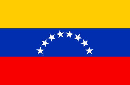 National flag of the Bolivarian Republic of Venezuela.