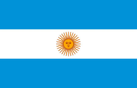 National flag of the Argentine Republic. Standard-Bild