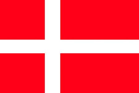 National flag of the Kingdom of Denmark. Standard-Bild