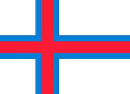 Flag of Faroe islands. Standard-Bild