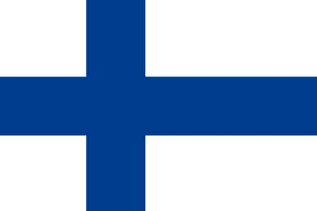 National flag of the Republic of Finland.