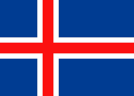 National flag of the Republic of Iceland.