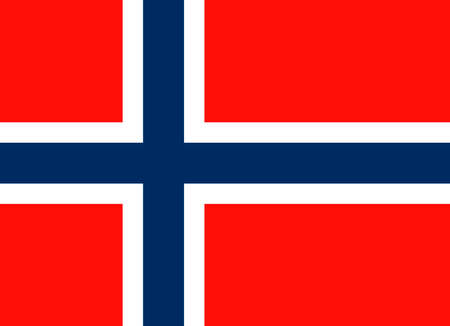 National flag of the Kingdom of Norway.