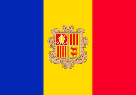 Flag of the Principality of Andorra.