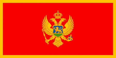 National flag of the Republic of Montenegro.