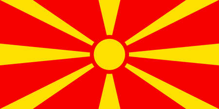 National flag of the Republic of Macedonia. Standard-Bild