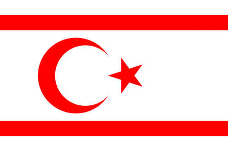 Flag of the Turkish Republic of Northern Cyprus TRNC.