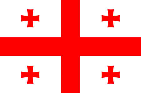 Flag of the Republic of Georgia.