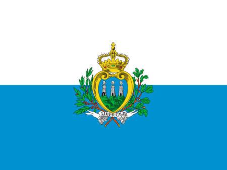 National flag of the Republic of San Marino. Standard-Bild