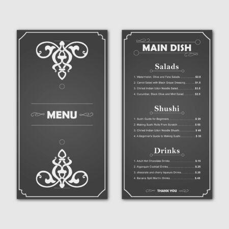 Restaurant food menu card design template Foto de archivo - 130785091