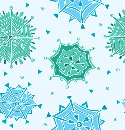 Light blue pattern with snowflakes