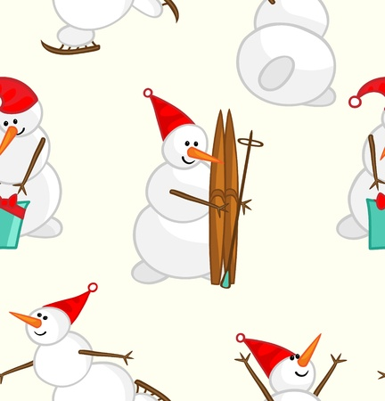 Snowmen Pattern Illustration