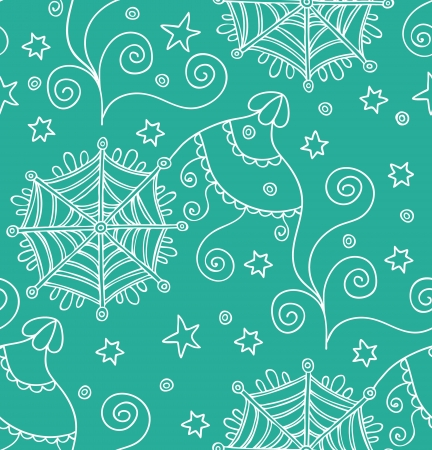 Lace pattern with snowflakes  Illustration