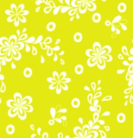 Yellow flower pattern Illustration