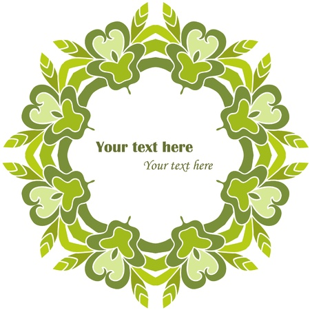 Green decorative round frame  Frame can be used for wallpaper, web page background,tags   Vector