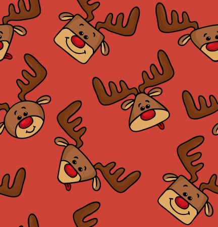 Vector pattern with funny deers Illustration