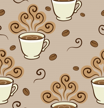 Coffee Aroma Pattern  Seamless pattern can be used for wallpaper, pattern fills, web page background,surface textures