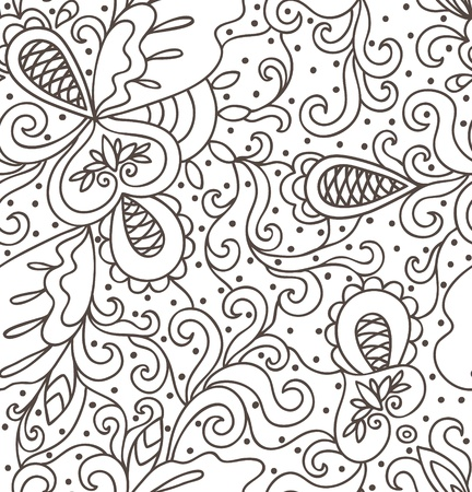 Abstract hand drawn pattern  Seamless pattern can be used for wallpaper, pattern fills, web page background,surface textures Stock Vector - 17688965