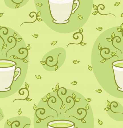 Green tea pattern  Seamless pattern can be used for wallpaper, pattern fills, web page background,surface textures  Illustration