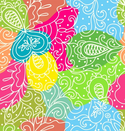 Seamless abstract hand-drawn pattern,colorful background  Seamless pattern can be used for wallpaper, pattern fills, web page background,surface textures  Illustration
