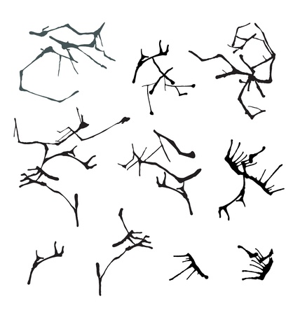 Set of different ink blots for design Stock Vector - 18949398
