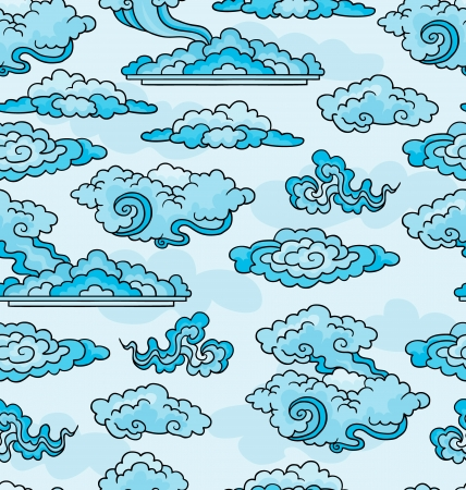 Decorative clouds  Elements for design  Seamless background Stock Vector - 19548557