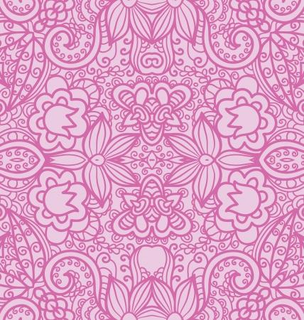 Floral Seamless Texture, pink