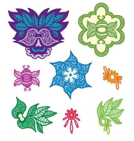 Ornamental indian elements for design