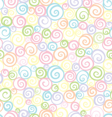 shell pattern: Seamless shell pattern in soft colors Illustration
