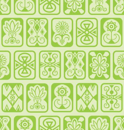 Vector seamless background. Green tiles