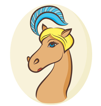 blondy: Vector illustration of a blondy horse - the symbol of 2014