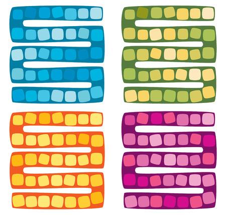 Set of vector illustration of board game for children Illustration