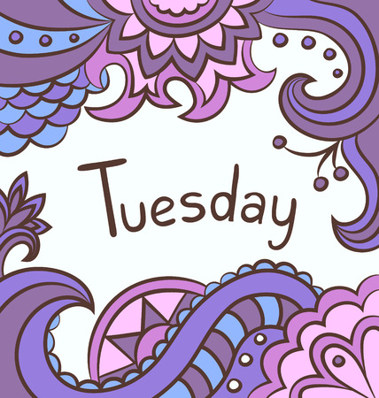 Decorative background - Tuesday