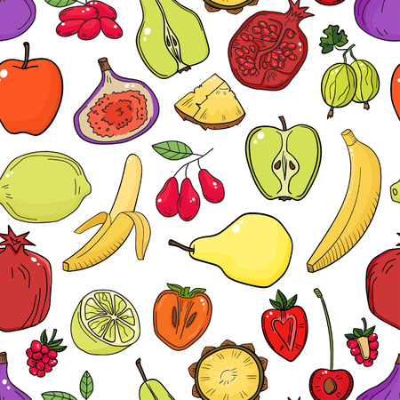 Colorful pattern with fruits.