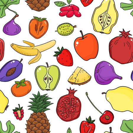 citric: Colorful pattern with fruits.