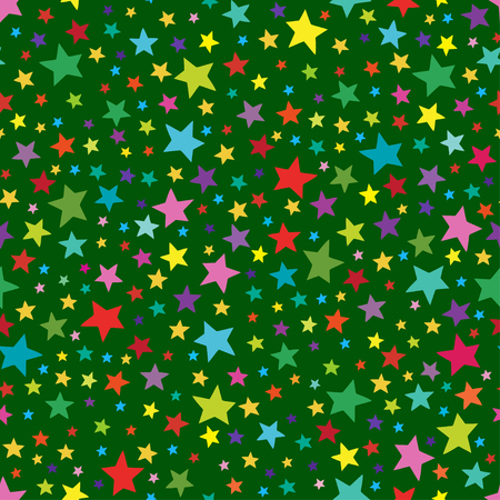 Seamless simple pattern with colorful stars. Seamless pattern can be used for wallpapers, textile,surface textures. Illustration